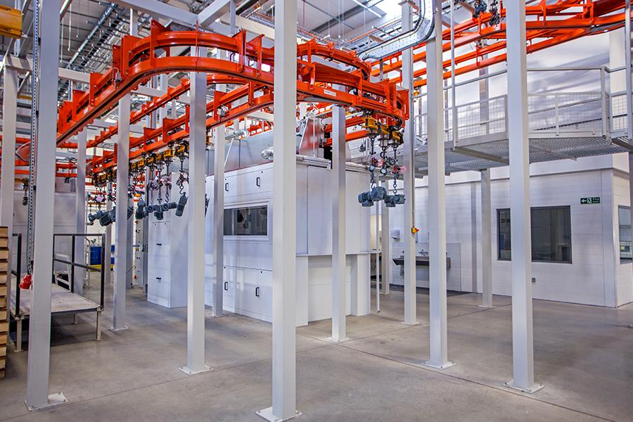 overhead conveyor systems  industrial overhead conveyor equipmentjunair spraybooth