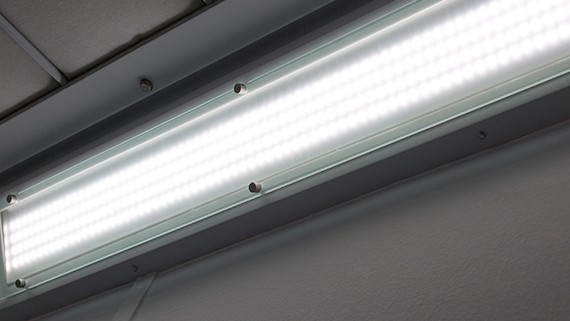 Junair Spraybooth LED lighting