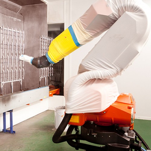 High Pressure Spray Booth : Industrial robots automations fluid systems junair