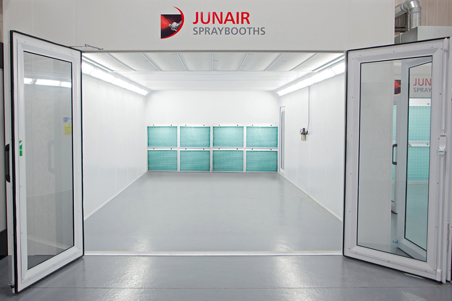 industrial dry filter spray booths junair spraybooths