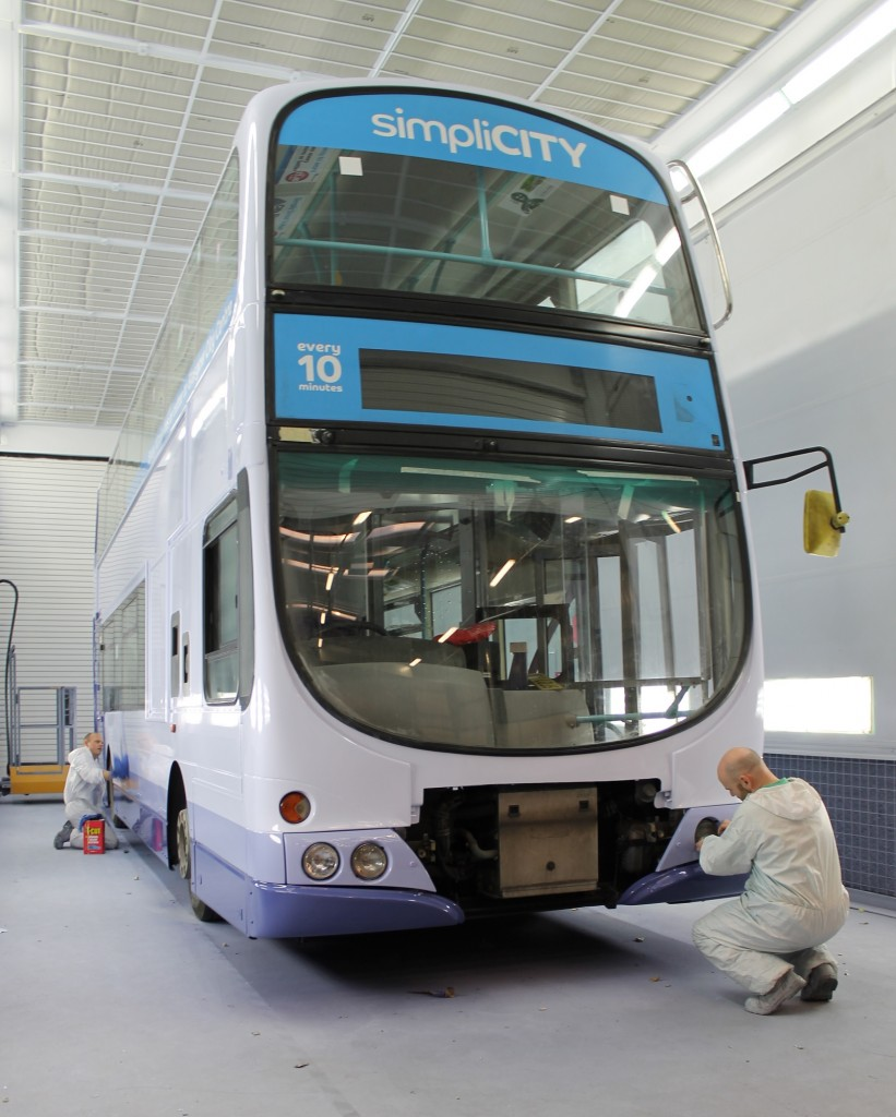 Commercial Lighting Glasgow: Junair Installs A Commercial Spray Booth For First Bus In