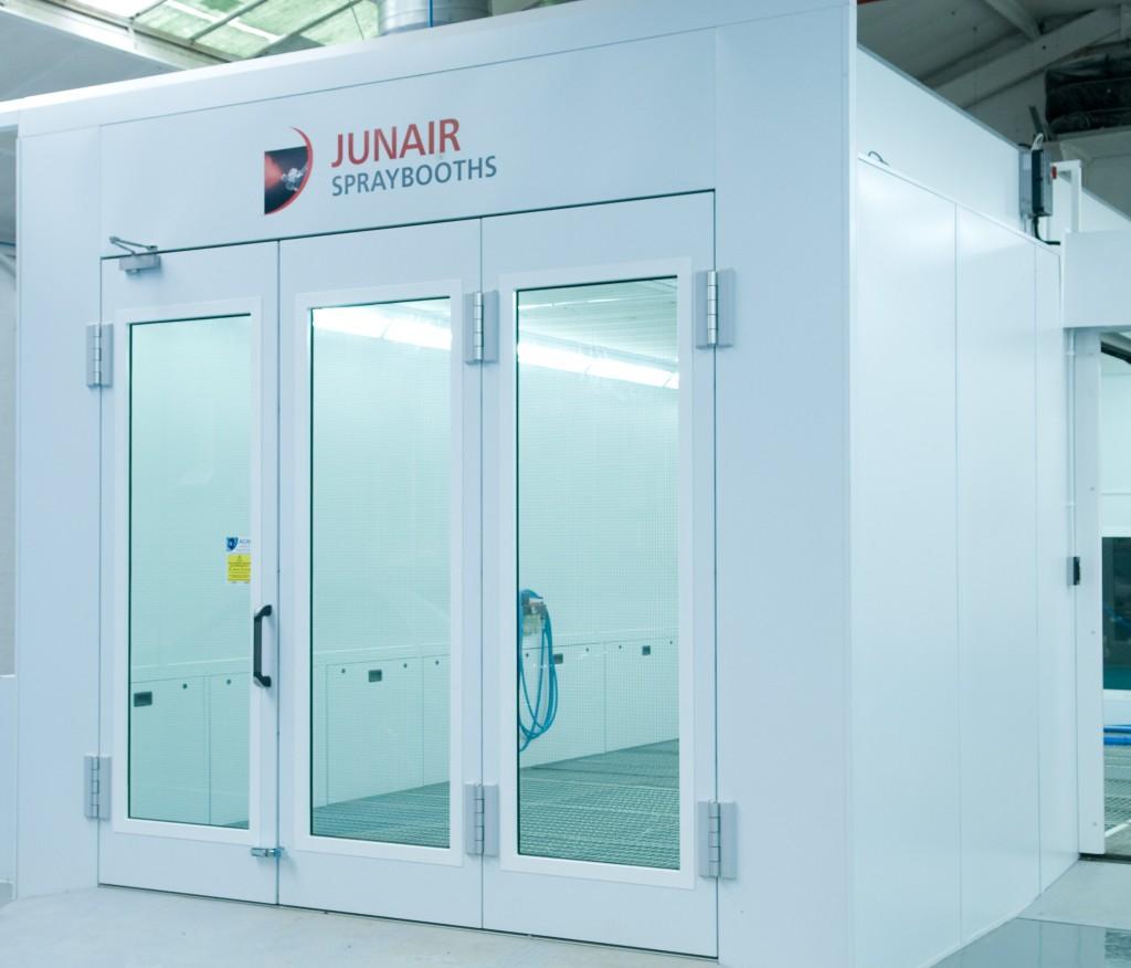 Biomass Booths In Blackburn Junair Spraybooth