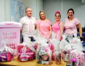 the Junair team wear it pink