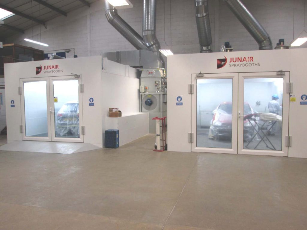 New Spraybooths Installed For Peter Cooper Motor Group
