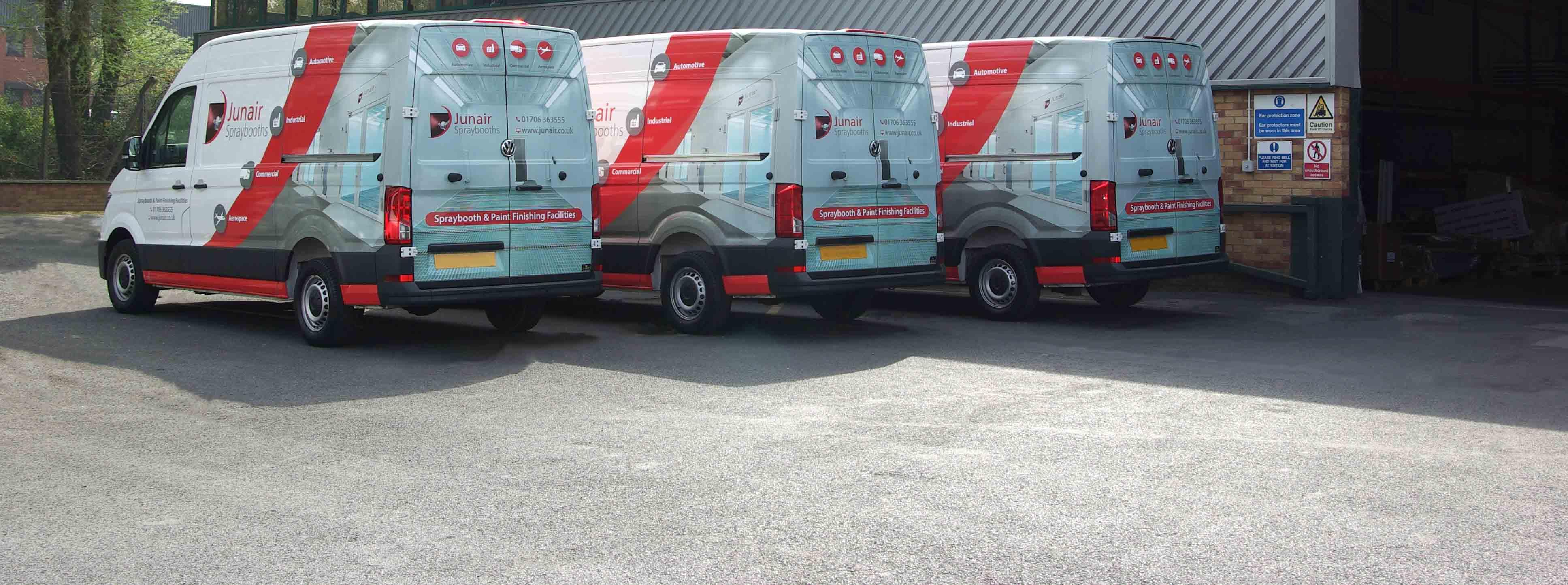 Junair Spraybooths vans
